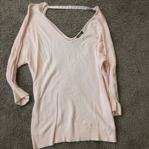 Pink Knit Express Top with Silver Accent